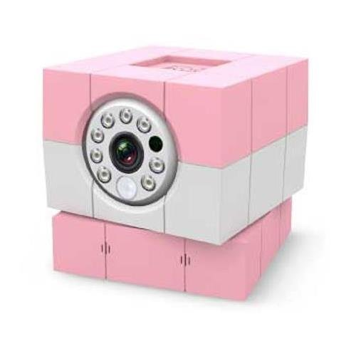 Amaryllo iBaby Plus 1MP Wi-Fi Camera with Cloud Subscription, 1280x720 at 30fps, H.264, MJPEG, Day/Night Vision, Pink