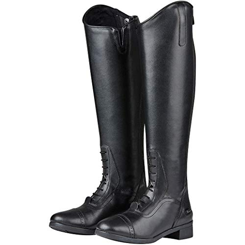 Saxon Short Long Boots Uk Field Riding Syntovia 8 Wide black BBq7P