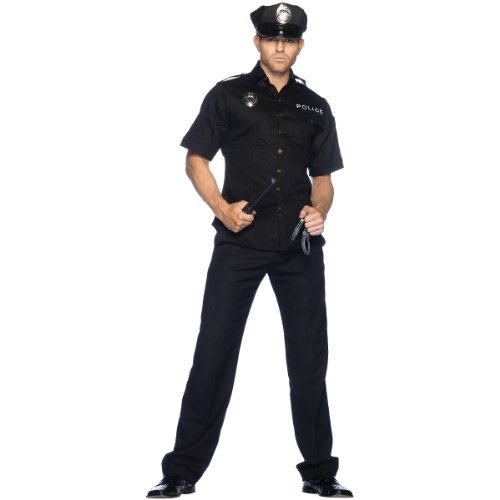 Men's 4 Piece Policeman Costume