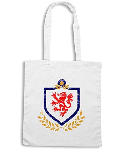 T-Shirtshock - Bolsa para la compra T0766 english lion calcio ultras Blanco