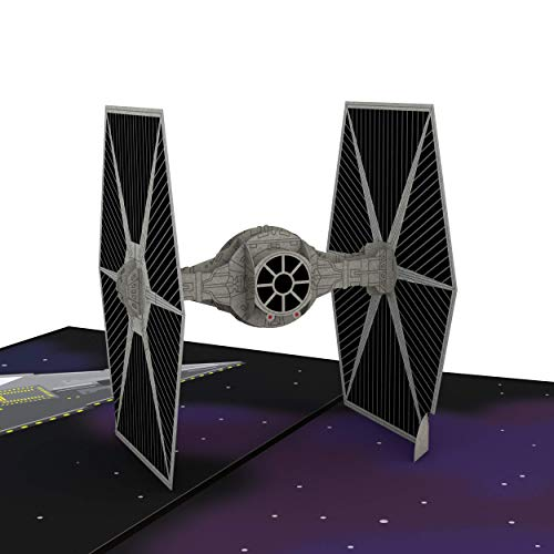 (Star Wars TIE Fighter Pop Up Card, 3D Card, Birthday Card, Greeting Card)