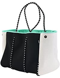 Neoprene Multipurpose Beach Bag Tote with Inner Zipper Pocket and Movable Board