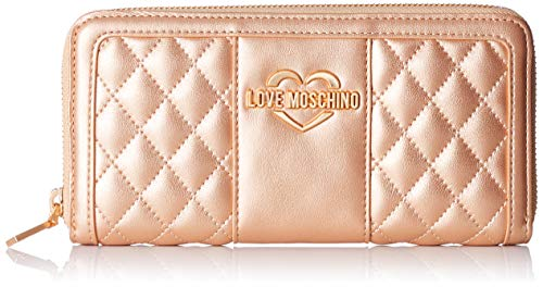 Pu Portaf Portefeuilles Rame quilted Love nappa Met Rose Moschino 5pqTw7X