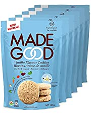 MadeGood Vanilla Cookies, Gluten Free Cookies - 6 Pouches, 142g. Each - Recyclable Packaging
