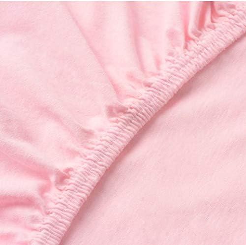 IKEA 704.652.94 LEN Kinder Spannbettlaken Spannbetttuch 80 x 165 cm rosa