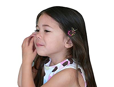 8 Pack - 8 Barrettes with Snap On Clip for Thin Hair or for Young Girls U86200-2108-8