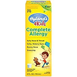 Hyland's 4 Kids Complete Allergy Relief Syrup, Natural Indoor and Outdoor Allergy Relief, 4 Ounces