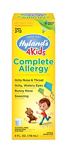 Hyland's 4 Kids Complete Allergy Relief Syrup, Natural Indoor and Outdoor Allergy Relief, 4 Ounces (Relief Syrup)