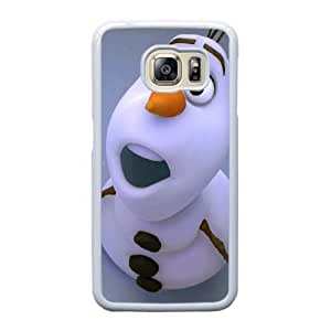 Fashion image DIY for Samsung Galaxy S6 Edge Cell Phone Case White olaf disney frozen Best Gift Choice For Birthday HMB3463620