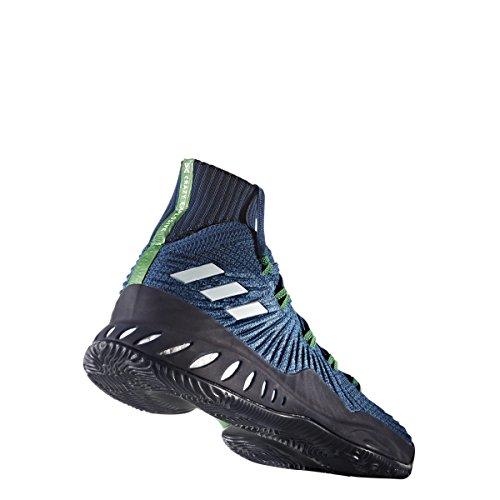 Adidas Crazy Explosive 2017 Primeknit Schoen Herenbasketbal Hoofdstad Blauwlopend Wit-donker Marine