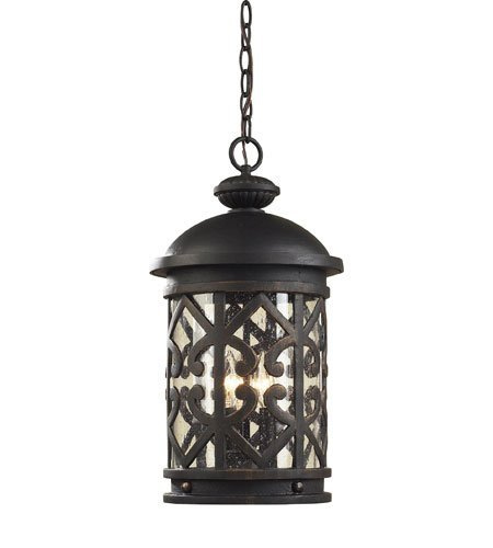 ght With Weathered Charcoal Finish Clear Seeded Glass Candelabra 10 inch 180 Watts - World of Lamp ()