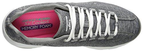 Skechers Sport Womens DLite Ultra-Illusions Fashion Sneaker Grey White