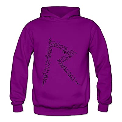 Lennakay Work Adult's Rihanna Workout Hoodie With No Pocket Purple For Woman
