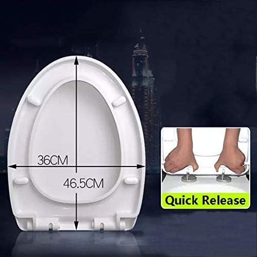 便座細長い白は静かな開閉簡単なインストール&クリーニングのために、クイックリリース&ノンスリップシートバンパーと閉じるヘビーデューティスロー (Size : Elongated2)