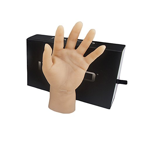 ITATOO® Silicone Tattoo Practice Hand Dummy Fake Skin for Artists and Beginners (Left Palm with Short Arm) (N201096-L)