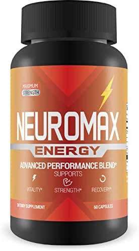 Neuromax Energy - Increase Vitality, Strength, and Recovery Time - L-Arginine Formula for Extra Pump - 60 Capsules