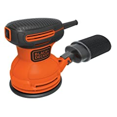 Black & Decker BDERO100 5-inch Random Orbit Sander features random orbital action for high removal rate and a high quality finish. This sander offers a hook and loop system for fast and easy paper changes. It also has a dust sealed switch...