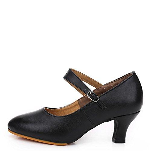 Dance Trainers Wxmddn Dancing Jazz Gymnastics Shoes 5 5cm dance for Girls Black shoes Women Tango Practice performance Shoes Ladies' Shoes Dance Ballets Shoes Shoes 7nCx8Prqw7