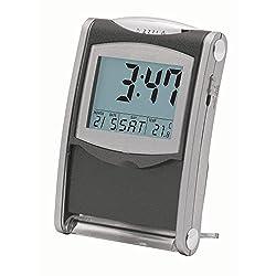 Dainolite 36501 Desk/Travel Alarm Clock, Grey