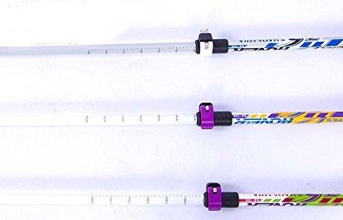 Myheartgoon 2-Pack Ultralight Adjustable Height Anti-Shock Carbon Fiber Trekking Poles Travel Trekking / Walking / Climbing KY7 (Purple/ Green)