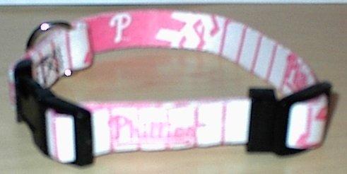 Philadelphia Phillies Pink Pet Dog Collar (Large)