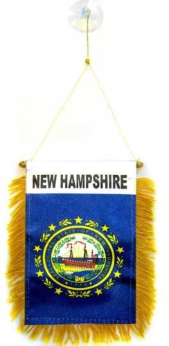 Wholesale lot 12 State New Hampshire Mini Flag 4''x6'' Window Banner suction cup - Vivid Color and UV Fade Resistant - Prime Outside Garden Home Decor