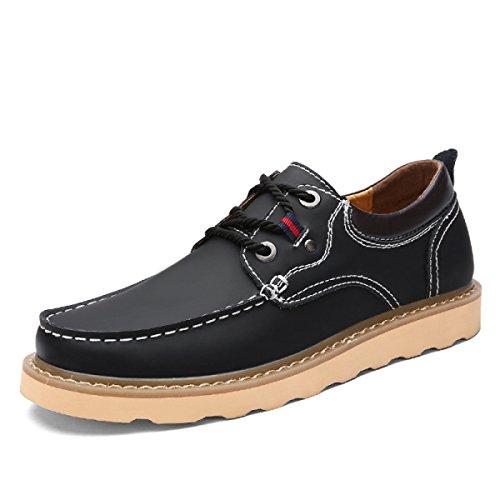 Leder Herrenschuhe Freizeitschuhe England Schuhe Männer Mode Schuhe Black