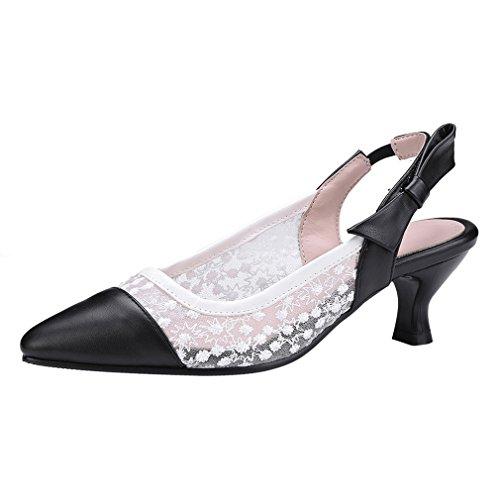 Ye Talons Milieu Des Femmes Ouvertes Sandales À Bride Arrière Orteil Avec Des Chaussures Bride À La Cheville De Bowtie Blanc