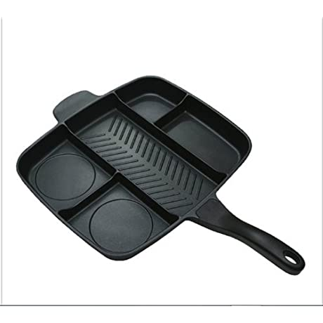 NO BRAND 7 Inch Round Non Stick Gas Grill Pan Smokeless Barbecue Plate For Outdoor