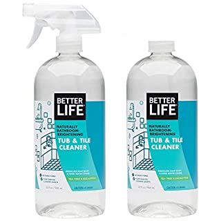 Better Life Natural Tub and Tile Cleaner, Tea Tree and Eucalyptus, 32 Fl Oz (Pack of 2)