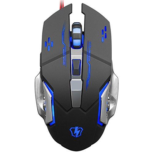 Mouse Gamer : Sades USB Con cable con 4 Ajustable DPI para P