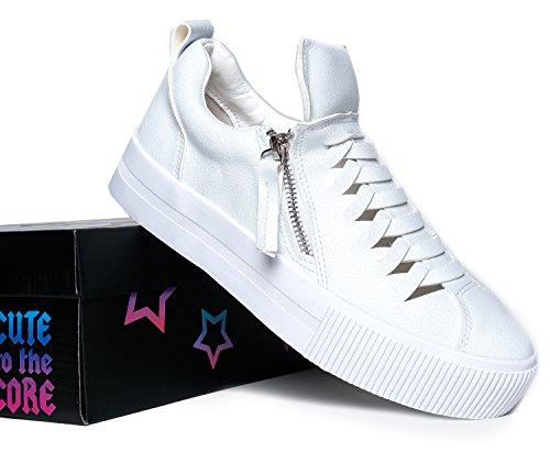 YRU CUTE TO THE CORE GINGER Side Zipper Vented Slit Platform Sneaker 9