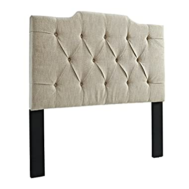 Pulaski Everly Panel Tufted Linen Headboard, 6/0-6/6-Inch