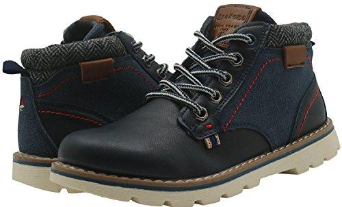 Apakowa Kurzschaft Herren Stiefel Combat Boots Klassische Stiefel (Color : DarkBlue1, Size : 2.5 UK/35 EU)