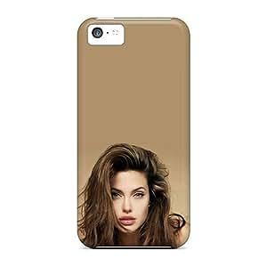 GoldenArea Iphone 5c Hybrid Tpu Case Cover Silicon Bumper Beautiful Angelina Jolie