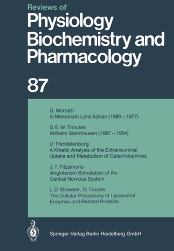 Reviews of Physiology, Biochemistry and Pharmacology (English and German Edition)