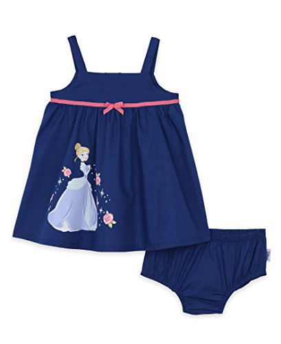 Disney Baby Girls' Cinderella 2-Piece Dress and Panty Set, Limoges, 0/3 -