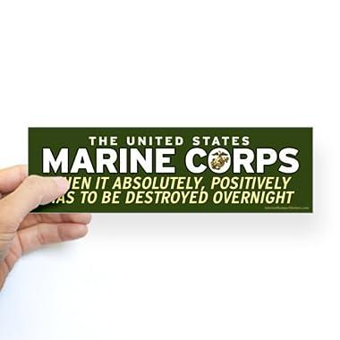 CafePress - U.S. Marine Corps - 10 x3  Rectangle Bumper Sticker Car Decal