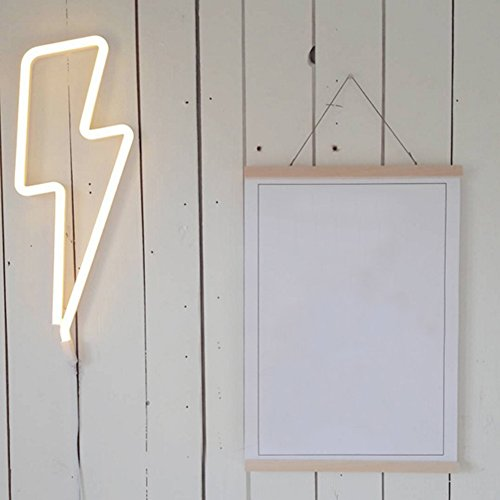 Lightning Bolt Neon Signs Light Led Neon Art Decorative Lights Wall Decor for Children Baby Room Hose Bar Recreational Wedding Party Decoration by wanxing (Image #6)