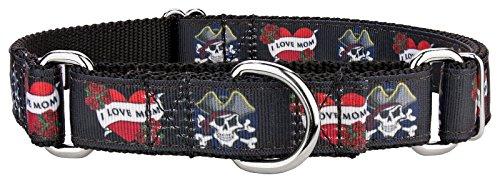 Country Brook Design I Love Mom Ribbon Martingale Dog Collar - Large]()