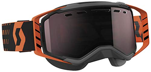 SCOTT Prospect Snowcross Goggles, Primary Color: Black, Distinct Name: Black/Orange / Amp Silver Chrome Lens, Gender: - Smith Roll Off System