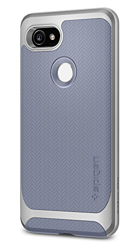 Spigen Neo Hybrid Herringbone Google Pixel 2 XL Case with Flexible Inner Protection and Reinforced Hard Bumper Frame for Google Pixel 2 XL (2017) - Kinda Blue - Blue Hybrid Case