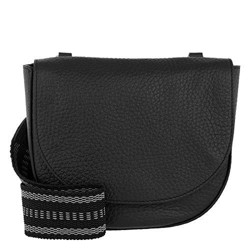 Abro Cervo Crossbody Bag Black/Nickel - Cross Body Bag - nero - cuoio - Donna - taglia unica