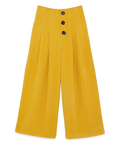 Zara Donna Pantaloni a pieghe con bottoni 7149/063