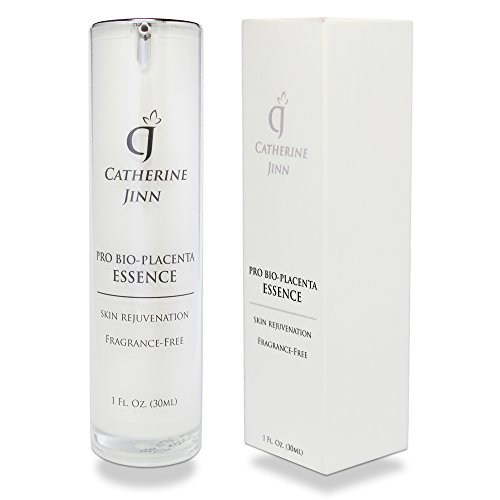 Catherine Jinn Korean Skin Care Peptide Serum - Pro Bio Placenta Essence is an Anti-Aging & Wrinkle Peptide Moisturizer for Face and Eyes With Growth Factors & Hyaluronic Acid - 1 oz / (Placenta Anti Aging)