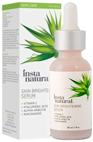 InstaNatural - Skin Brightening Serum with Vitamin C - Advanced Antioxidant Serum for Firming Wrinkles, Fine Lines - Lightening Dark Spots, Hyperpigmentation - With Hyaluronic and Niacinamide - 1oz (Best Natural Skin Serum)