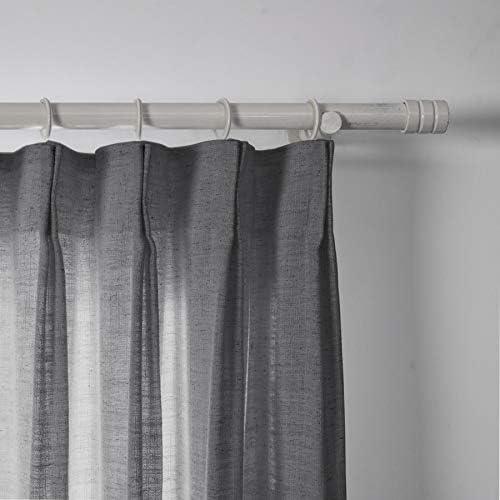 ChadMade Polyester Linen Pinch Pleated Curtain Panel Room Darkening Drapery Sliding Glass Door Living Room