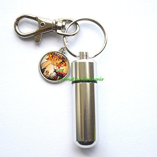 Autumn Harvest Cremation Keychain - Memorial Keepsake - Memorial Keychain - In Memory of - Autumn Harvest Urn - Ashes -