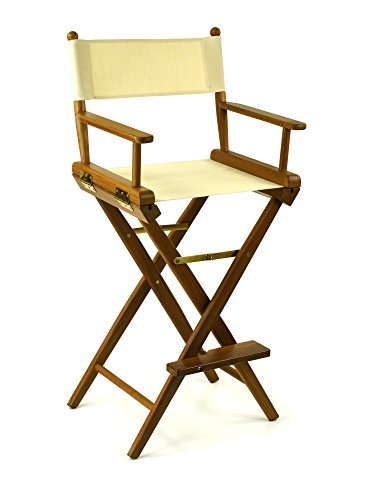 (Whitecap Teak Captain's Chair with Natural Seat Covers)