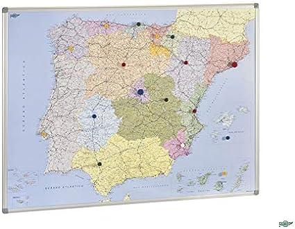 Mapa de España y Portugal magnético 103X129 cm: Amazon.es: Oficina ...